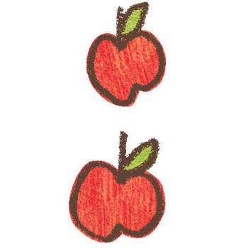 りんご-02のイラスト | かわいいフリー素材が無料のイラストレイン