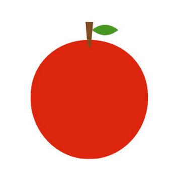 りんごのシンプルイラスト <無料> | イラストK