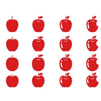 リンゴ素材詰め合わせ | シルエットデザイン