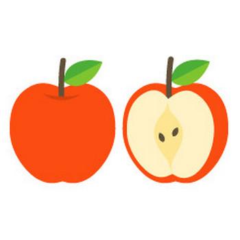 リンゴ - イラスト素材 | 商用利用可のベクターイラスト素材集「ピクト缶」