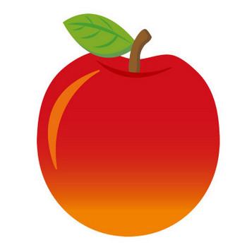 [無料イラスト] 赤いりんご - パブリックドメインQ:著作権フリー画像素材集