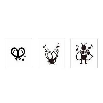 スズムシ|シルエット イラストの無料ダウンロードサイト「シルエットAC」