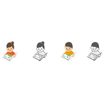 読書のイラスト/無料イラスト・フリー素材