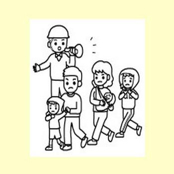 防災の日2/秋の季節・行事/無料イラスト【みさきのイラスト素材】