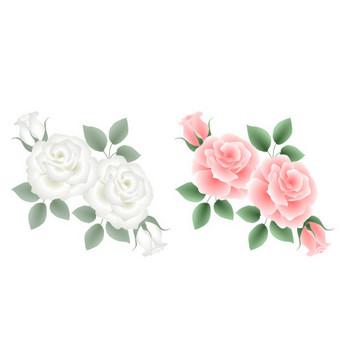 薔薇・ばら・バラ素材-バラのイラスト・アイコン~HPフリー素材(無料)