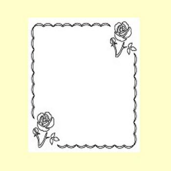 バラの花2/枠・ふきだし/無料イラスト【みさきのイラスト素材】