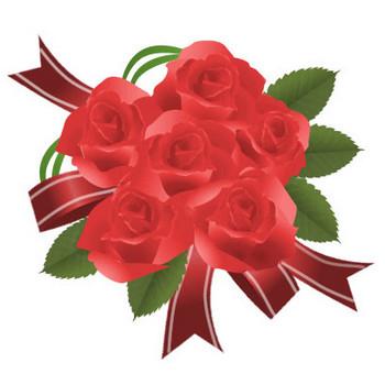 バラ-イラスト花束 画像フリー素材|無料素材倶楽部