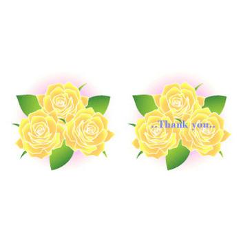 黄色い薔薇の花の無料イラスト素材 - 花/素材/無料/イラスト/素材【花素材mayflower】モバイル/WEB/SNS