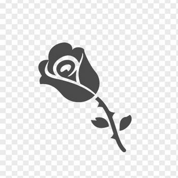 バラのフリーイラスト4 | アイコン素材ダウンロードサイト「icooon-mono」 | 商用利用可能なアイコン素材が無料(フリー)ダウンロードできるサイト