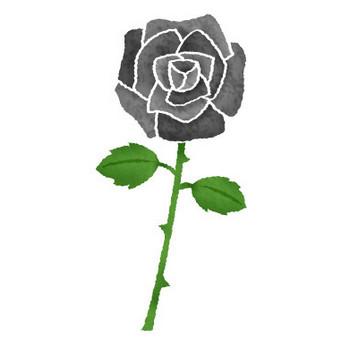 黒薔薇(黒バラ)   フリーイラスト素材 イラストリウム