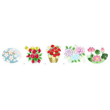 花イラスト素材背景素材フリーアイコン・素材屋じゅんの種類別花素材集・画像絵