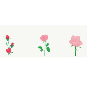 薔薇: 素材庭園(フリーイラスト素材集) ~花・動物・食べ物・人物・雑貨他