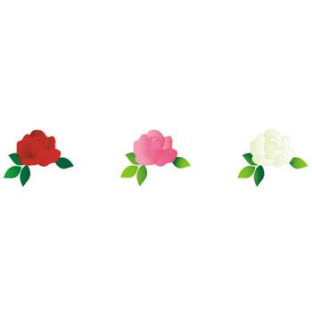 可愛いバラ(薔薇)のイラスト-無料イラスト/フリー素材