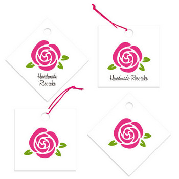 【薔薇のイラスト無料素材】プチローズ型(バラ)のお菓子のタグにも♪   Material room – 暮らしが楽しくなるフリー素材