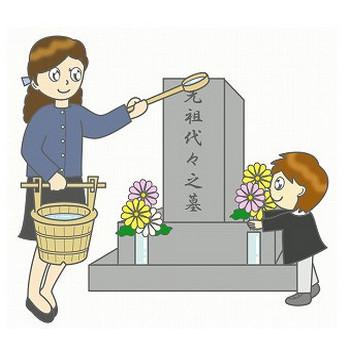 幼稚園児のイラスト・絵カード:【9月】お彼岸・墓参り - livedoor Blog(ブログ)