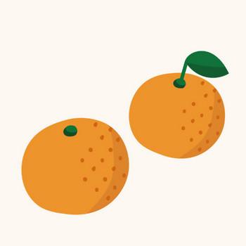 甘い みかんのイラスト!【冬の果物・フルーツ】   商用フリー(無料)のイラスト素材なら「イラストマンション」