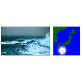 台風の無料イラスト