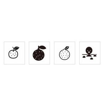 柚子 シルエット イラストの無料ダウンロードサイト「シルエットAC」