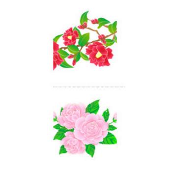 椿/山茶花 - 花/素材/無料/イラスト/素材【花素材mayflower】モバイル/WEB/SNS