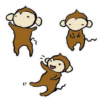 猿の手書きイラスト <無料>   イラストK
