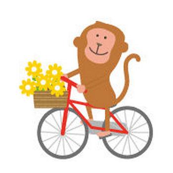 猿(さる)のイラスト-無料イラストフリー素材