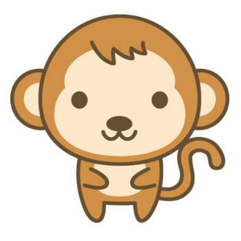 かわいい猿のイラスト   無料フリーイラスト素材集【Frame illust】