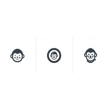 猿   商用可の無料(フリー)のアイコン素材をダウンロードできるサイト『icon rainbow』