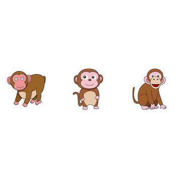 動物素材もイラストポップ   サルのイラストが無料