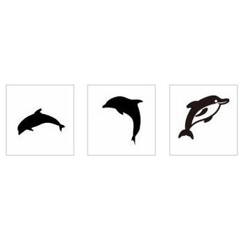 イルカ|シルエット イラストの無料ダウンロードサイト「シルエットAC」