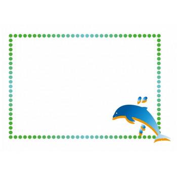 イルカの枠・フレームイラスト素材 | イラスト無料・かわいいテンプレート