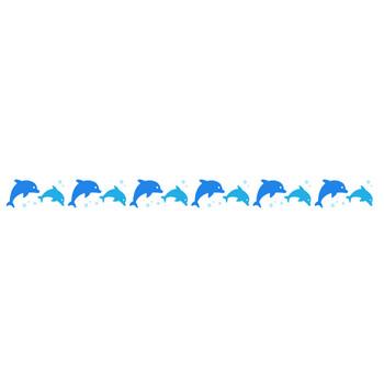 イルカ(ドルフィン)のライン飾り罫線イラスト | 無料フリーイラスト素材集【Frame illust】
