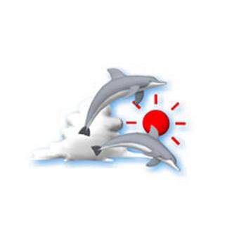 夏の無料イラスト素材 イルカ