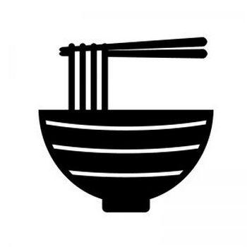 そば・うどんのシルエット | 無料のAi・PNG白黒シルエットイラスト