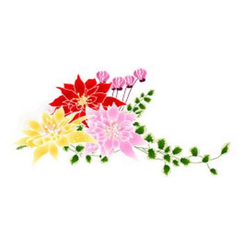 冬の花 ポインセチアの無料イラスト素材 - 花/素材/無料/イラスト/素材【花素材mayflower】モバイル/WEB/SNS
