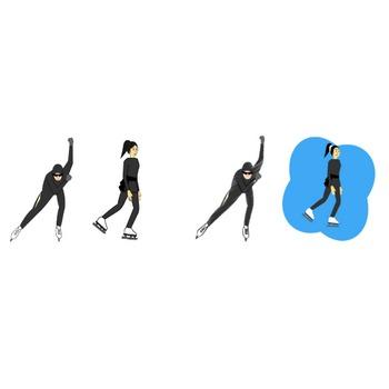 スケートの無料イラスト