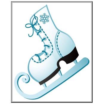 冬のイラストNo.032『スケート靴』/無料のフリー素材集【花鳥風月】