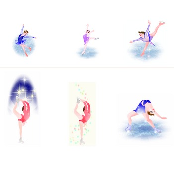 フィギュア・スケート イラスト