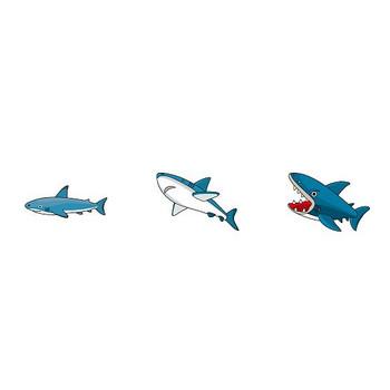 動物素材もイラストポップ | 鮫とクジラのイラストが無料