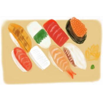 無料イラスト素材 お寿司 マグロ いくら イカ イラスト | FREE素材
