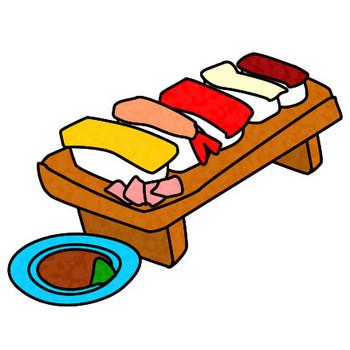 寿司のイラスト|フリーイラスト素材 変な絵.net