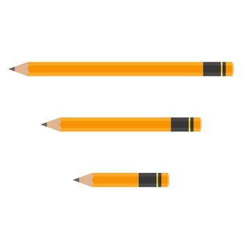 鉛筆(えんぴつ)のイラスト素材<黄色> | 無料フリーイラスト素材集【Frame illust】