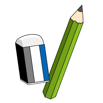 イラストポップ 学校のイラスト | 学用品No06鉛筆の無料素材
