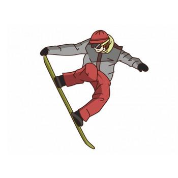 スノーボードをしているシーンのイラスト素材   イラスト無料・かわいいテンプレート