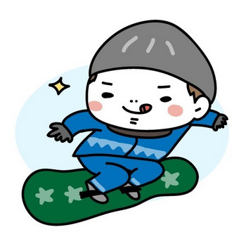 画像 8/20 :スキー、スノボ、雪合戦…冬スポーツの無料イラスト [Web素材] All About