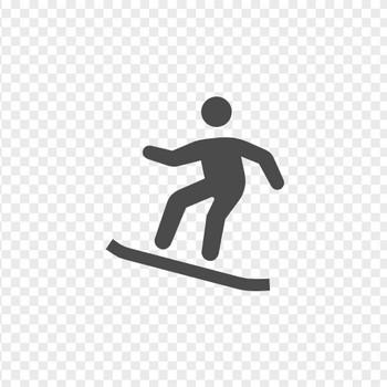 スノーボードアイコン1 | アイコン素材ダウンロードサイト「icooon-mono」 | 商用利用可能なアイコン素材が無料(フリー)ダウンロードできるサイト