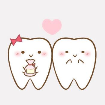 バレンタインの歯のキャラクター|フリー歯科イラスト【歯科素材.com】