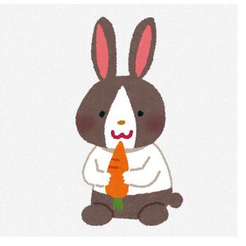ウサギのイラスト「白黒うさぎ」(動物) | かわいいフリー素材集 いらすとや