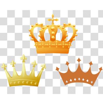 王冠のイラスト3パターンのフリー素材