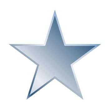 スターアイコン|星ロゴ|星マーク|スターシンボル|青色|グラデーション|立体的|フリーダウンロード|イラスト素材|クリップアート