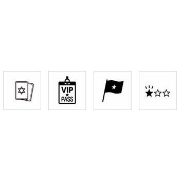 星マーク|シルエット イラストの無料ダウンロードサイト「シルエットAC」